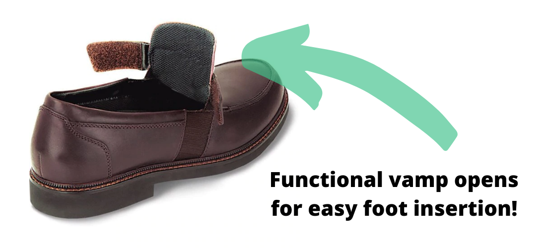Apex Classic Loafer with Functional Vamp for Easy Foot Insertion