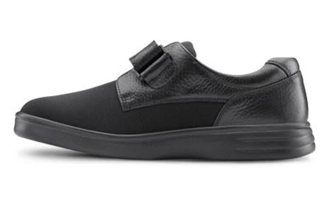 Dr. Comfort Women's Annie, Black Diabetic Walking Shoe - Side View 2 | Dahl Medical Supply
