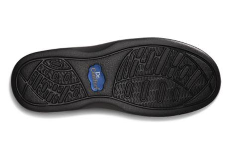 Dr. Comfort Women's Annie, Black Diabetic Walking Shoe - Bottom View | Dahl Medical Supply