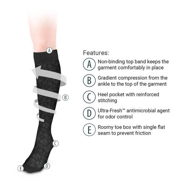 Unisex Damask Pattern Knee High