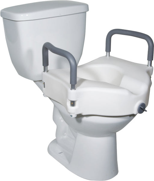 Drive Medial 2-in-1 locking raised toilet seat with arms
