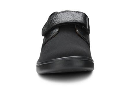 Dr. Comfort Women's Annie, Black Diabetic Walking Shoe - Front View | Dahl Medical Supply
