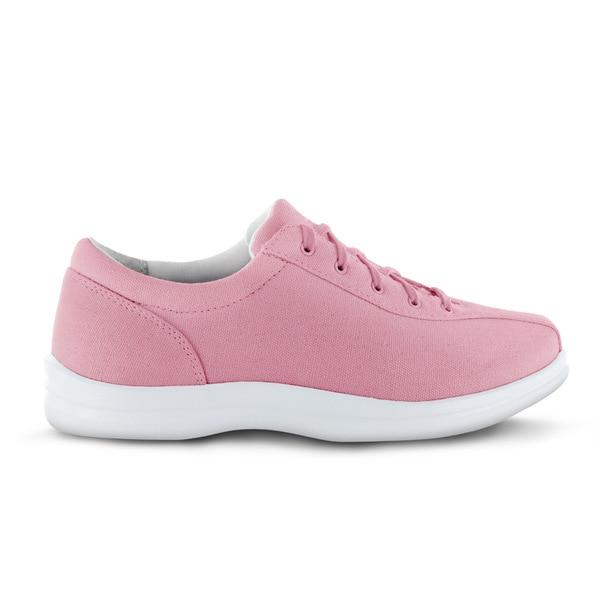 Apex Womens Ellen Causal Diabetic Shoe, Pink - Side View | Dahl Medical Supply