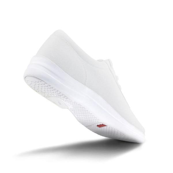 Apex Womens Ellen Causal Diabetic Shoe, White - Bottom View | Dahl Medical Supply