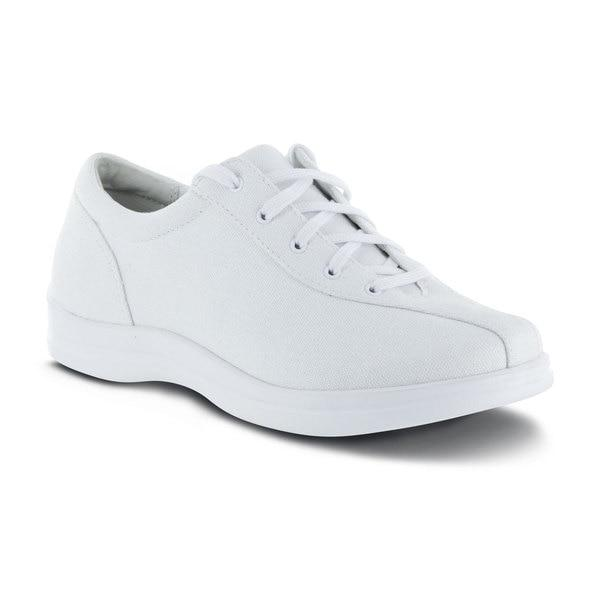 Apex Womens Ellen Causal Diabetic Shoe, White - Main Image | Dahl Medical Supply