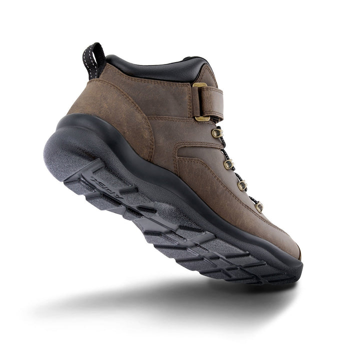 Apex Men's Ariya Diabetic Hiking Boot, Brown - Bottom View | Dahl Medial Supply