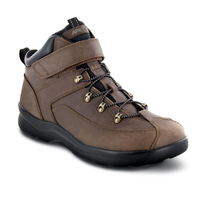 Apex Men's Ariya Diabetic Hiking Boot, Brown - Toe Box View | Dahl Medial Supply
