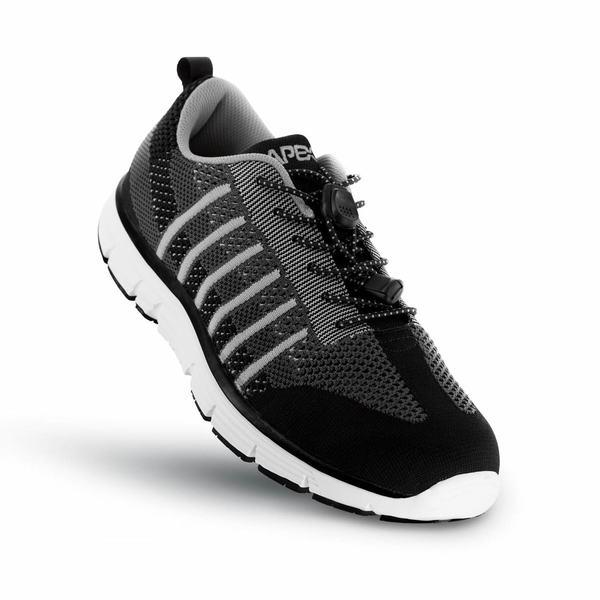 Apex Men's Bolt Knit A7000M Athletic Walking Shoe, Black - Top Image