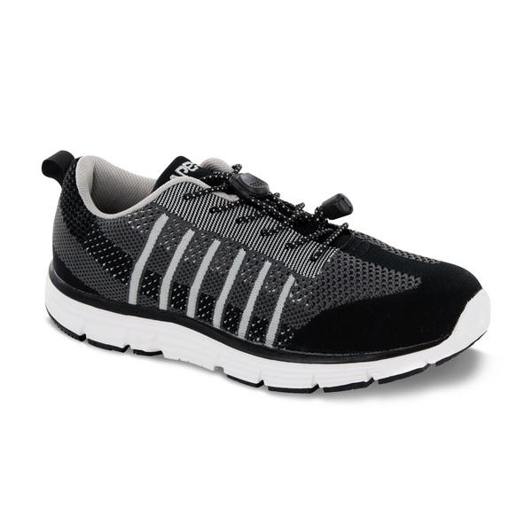 Apex Men's Bolt Knit A7000M Athletic Walking Shoe, Black - Main Image