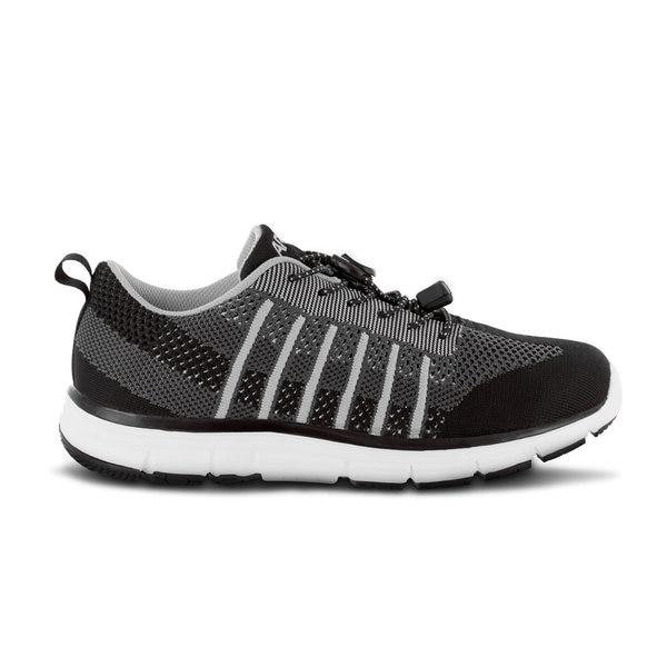 Apex Men's Bolt Knit A7000M Athletic Walking Shoe, Black - Side Image