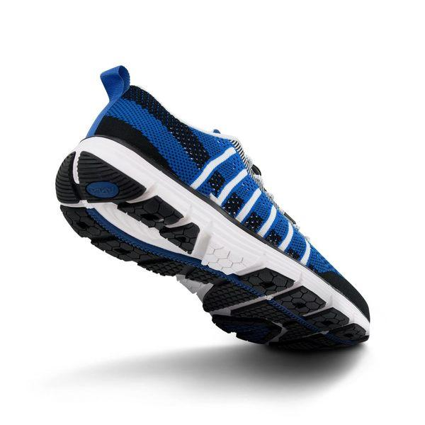 Apex Men's Bolt Knit A7000M Athletic Walking Shoe, Blue - Bottom Image