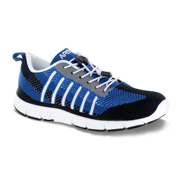 Apex Men's Bolt Knit A7000M Athletic Walking Shoe, Blue - Main Image
