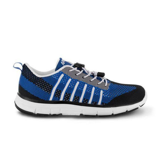 Apex Men's Bolt Knit A7000M Athletic Walking Shoe, Blue - Side Image