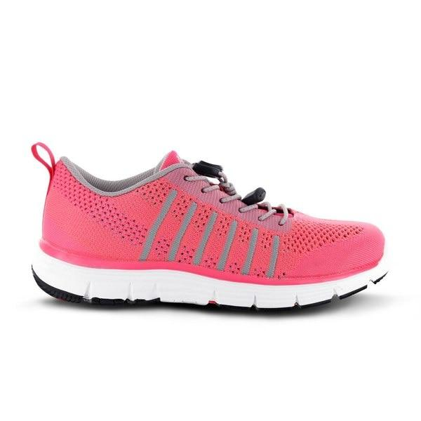 Apex Womens Breeze Knit Athletic Diabetic Walking Shoe, Pink - Dahl Medical Supply
