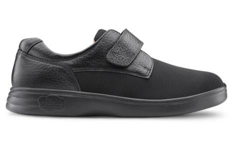 Dr. Comfort Women's Annie, Black Diabetic Walking Shoe - Main Side View | Dahl Medical Supply