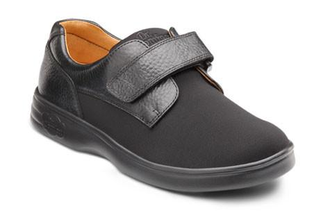 Dr. Comfort Women's Annie, Black Diabetic Walking Shoe - Front Side View | Dahl Medical Supply