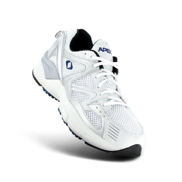 Apex Men's Boss Runner X522M Athletic Shoe, White - Top Image | Dahl Medical Supply