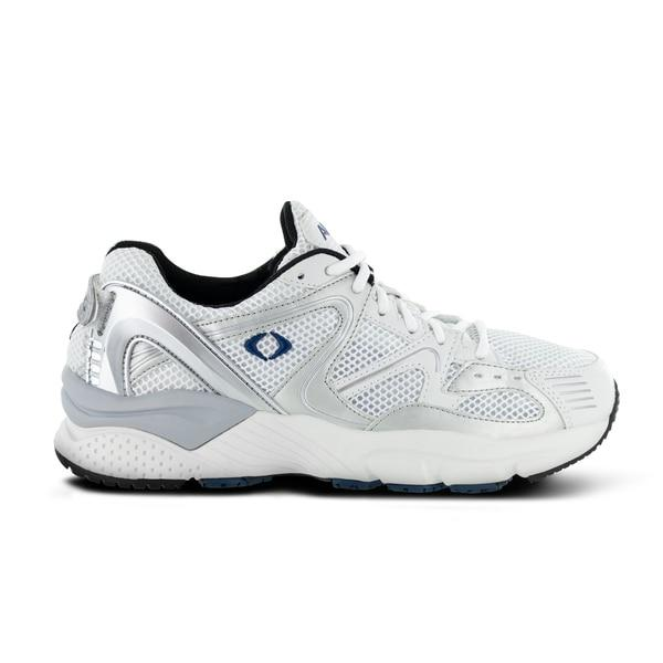 Apex Men's Boss Runner X522M Athletic Shoe, White - Side Image | Dahl Medical Supply