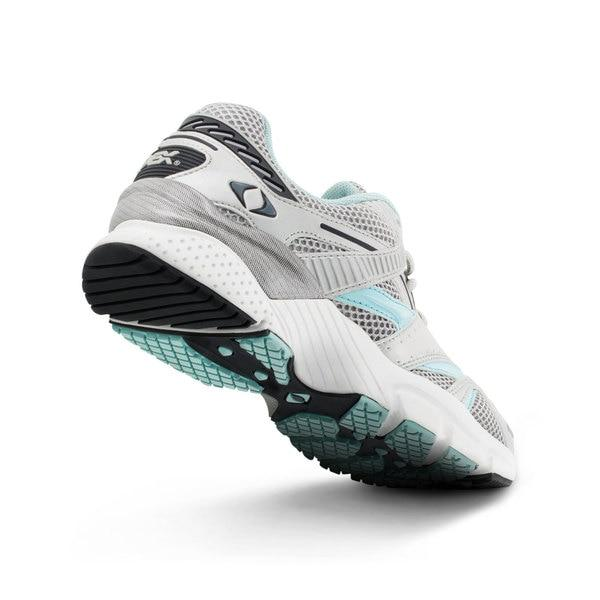 Apex Womens Boss Runner Athletic Diabetic Shoe, Sea Blue - Bottom View