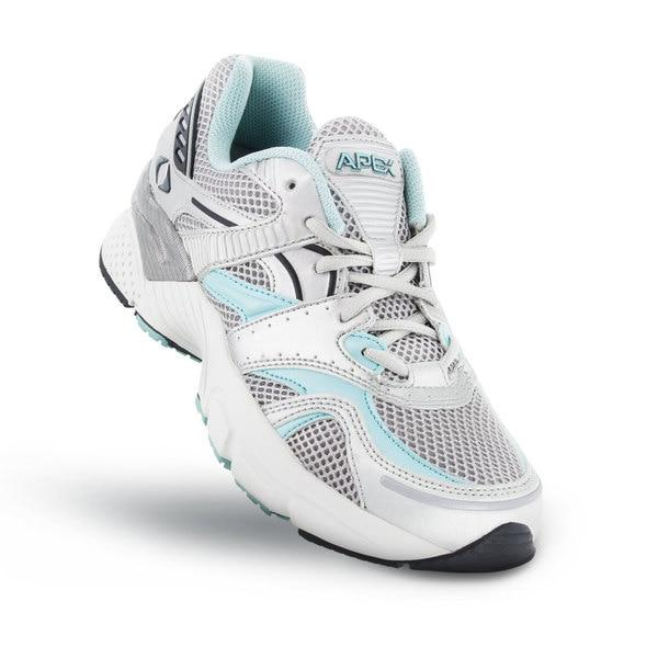 Apex Womens Boss Runner Athletic Diabetic Shoe, Sea Blue - Top View