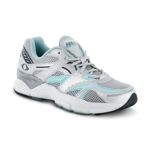 Apex Womens Boss Runner Athletic Diabetic Shoe, Sea Blue - Main Image