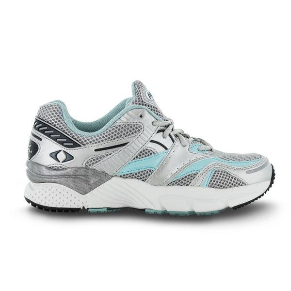Apex Womens Boss Runner Athletic Diabetic Shoe, Sea Blue - Side View