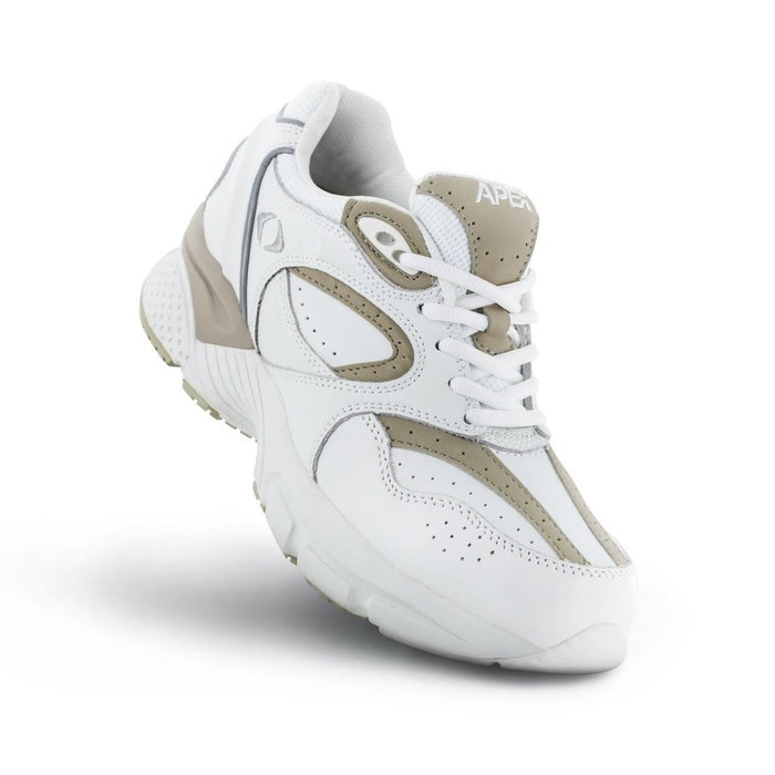 Apex Women's Lace Walker, White/Grey - Top Image