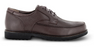 Apex Men's Classic Moc Toe Diabetic Dress Shoe, Brown - Side Image | Dahl Medical Supply