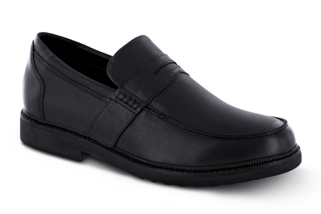 Apex Men's Classic Strap Loafer Dress Shoe, Black - Main Image | Dahl Medical Supply