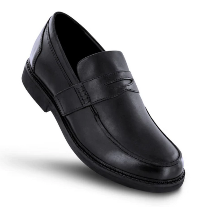 Apex Men's Classic Strap Loafer Dress Shoe, Black - Top Image | Dahl Medical Supply
