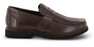 Apex Men's Classic Strap Loafer Dress Shoe, Brown - Side Image | Dahl Medical Supply