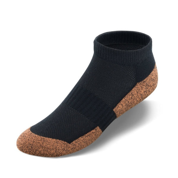 Copper Cloud No Show Length Diabetic Socks