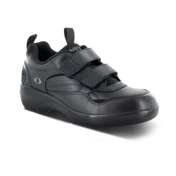 Apex Women's Active Walker Athletic Walking Shoe, Black - Side View