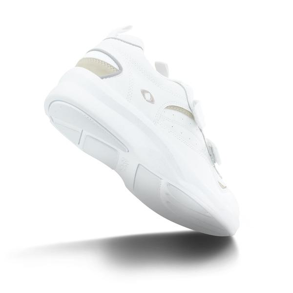 Apex Men's Active Walker Diabetic Shoe, White - Bottom Image | Dahl Medical Supply