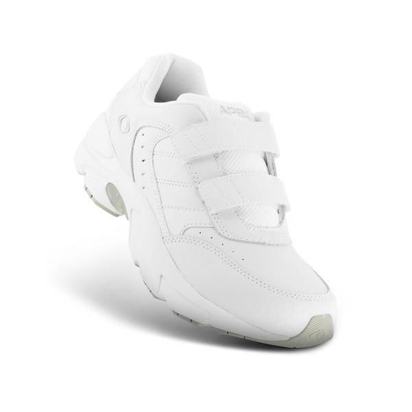 Apex Men's Active Walker Diabetic Shoe, White - Top Image | Dahl Medical Supply