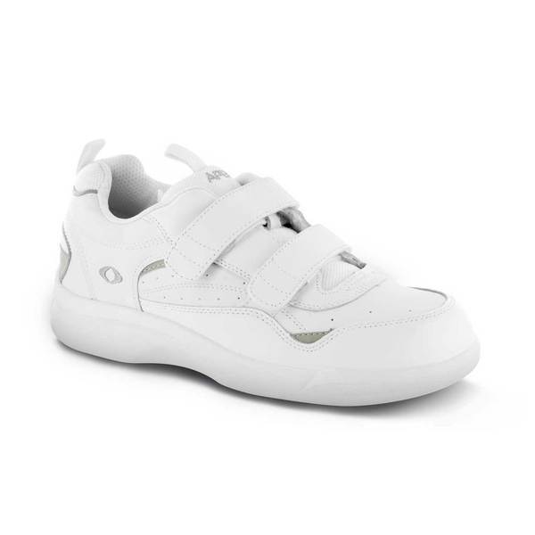 Apex Men's Active Walker Diabetic Shoe, White - Main Image | Dahl Medical Supply