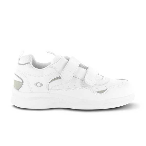 Apex Men's Active Walker Diabetic Shoe, White - Side Image | Dahl Medical Supply