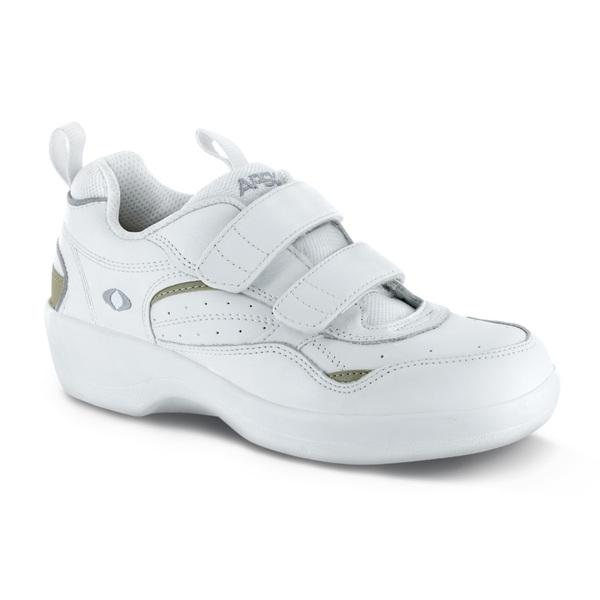 Apex Womens Active Walker Athletic Shoe, White | Dahl Medical Supply