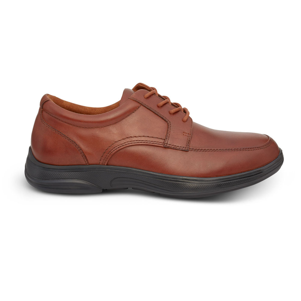 Anodyne Men's No. 12 Diabetic Therapeutic Comfort Casual Oxfort, BURNISHED BROWN - Side Image
