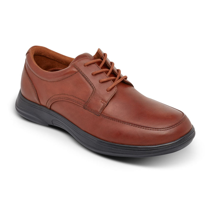 Anodyne Men's No. 12 Diabetic Therapeutic Comfort Casual Oxfort, BURNISHED BROWN - Main Image