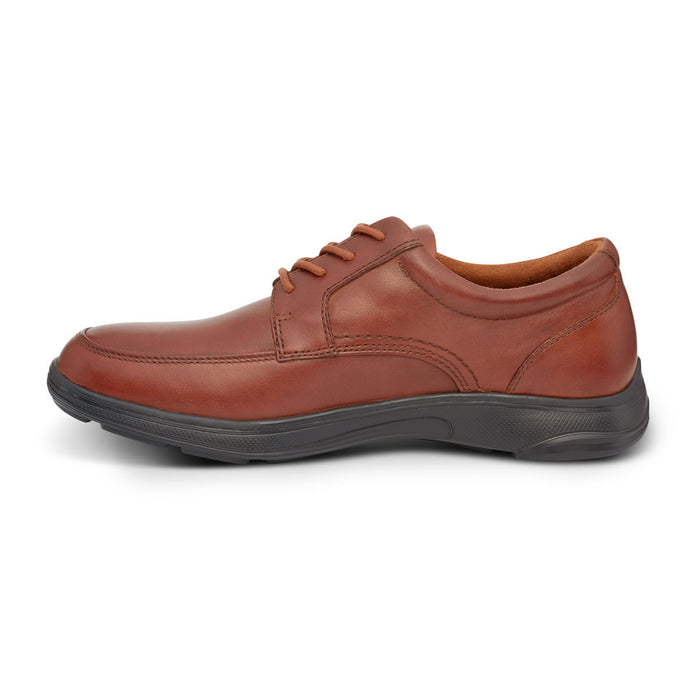 Anodyne Men's No. 12 Diabetic Therapeutic Comfort Casual Oxfort, BURNISHED BROWN - Left Side Image