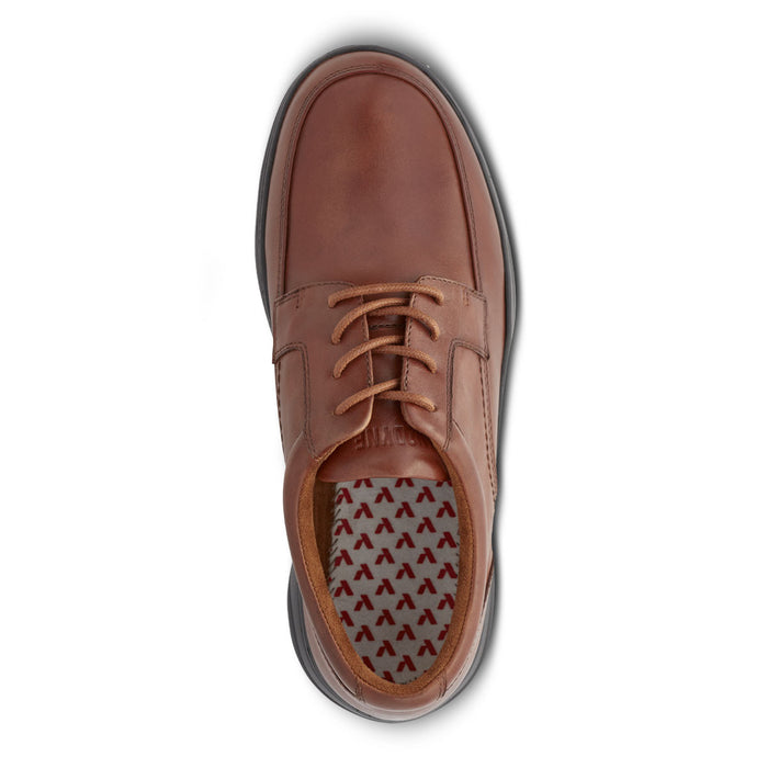 Anodyne Men's No. 12 Diabetic Therapeutic Comfort Casual Oxfort, BURNISHED BROWN - Top Image