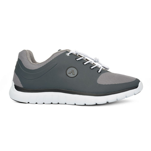 Men's Running Shoe for Diabetics | No. 22 Sport Runner, Grey - Right Side Image | Anodyne