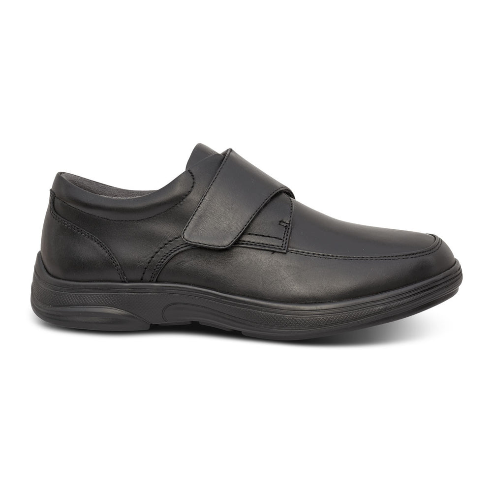 Anodyne Men's No. 28 Diabetic Therapeutic Comfort Casual Oxfort, Black - Side Image