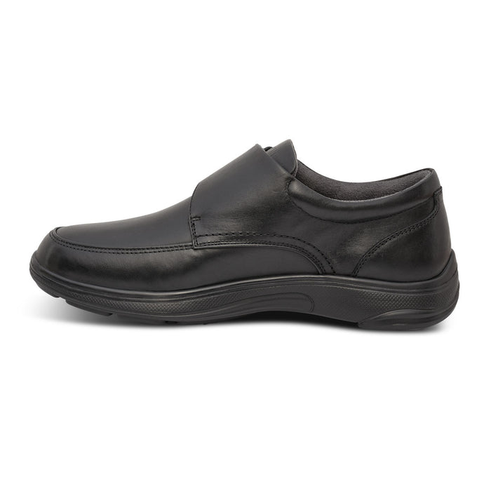 Anodyne Men's No. 28 Diabetic Therapeutic Comfort Casual Oxfort, Black - Left Side Image
