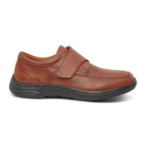 Anodyne Men's No. 28 Diabetic Therapeutic Comfort Casual Oxfort, BURNISHED BROWN - Side Image
