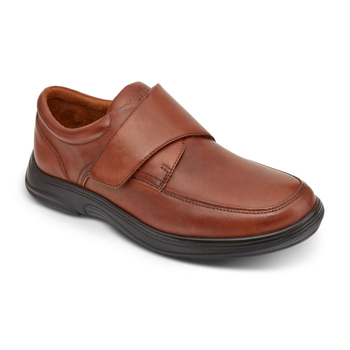 Anodyne Men's No. 28 Diabetic Therapeutic Comfort Casual Oxfort, BURNISHED BROWN - Main Image