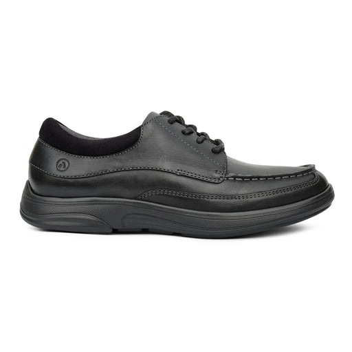 Anodyne Men's No.30 Casual Dress Diabetic Shoe, Black - Right Side Image
