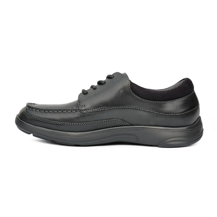 Anodyne Men's No.30 Casual Dress Diabetic Shoe, Black - Left Side Image