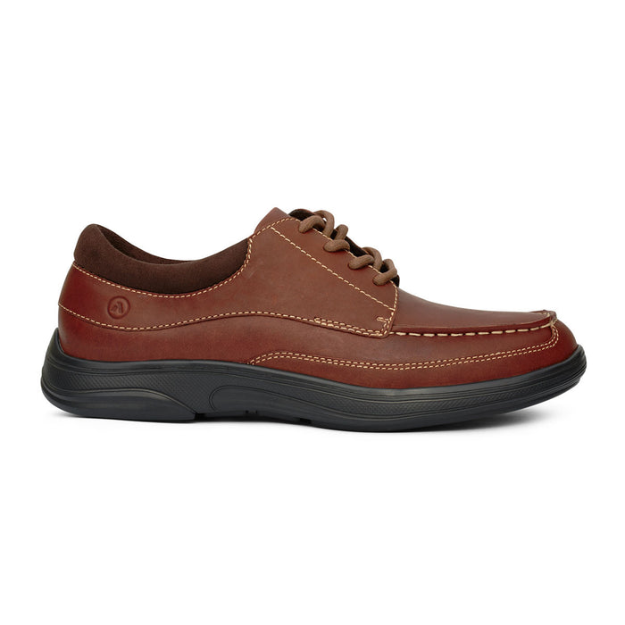 Anodyne Men's No.30 Casual Dress Diabetic Shoe, Chestnut - Right Side Image